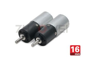 105mA No - Load Current Planetary DC Gear Motor 16mm 9V With Small Gearbox