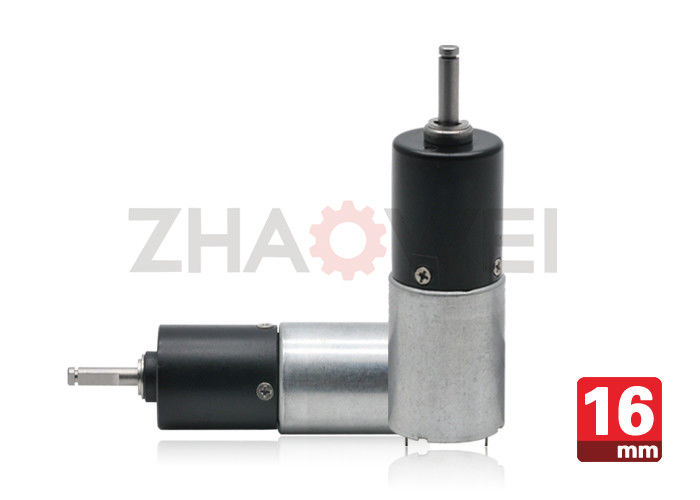 DC 9V Dia16mm Gear Reduction Box With Planetary Transmission , Metal Shaft Material