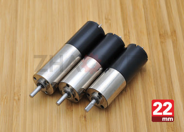 24V DC Reduction Gearbox DC Gear Motor , 22mm Diameter Planetary Drive Gear Motor